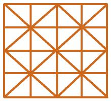 Square of 32 triangles